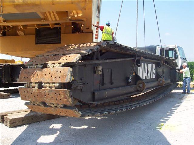 A 440 ton crawler at a wind farm.