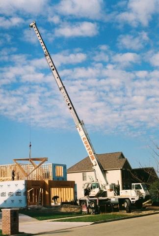 30 ton hydraulic crane setting truss