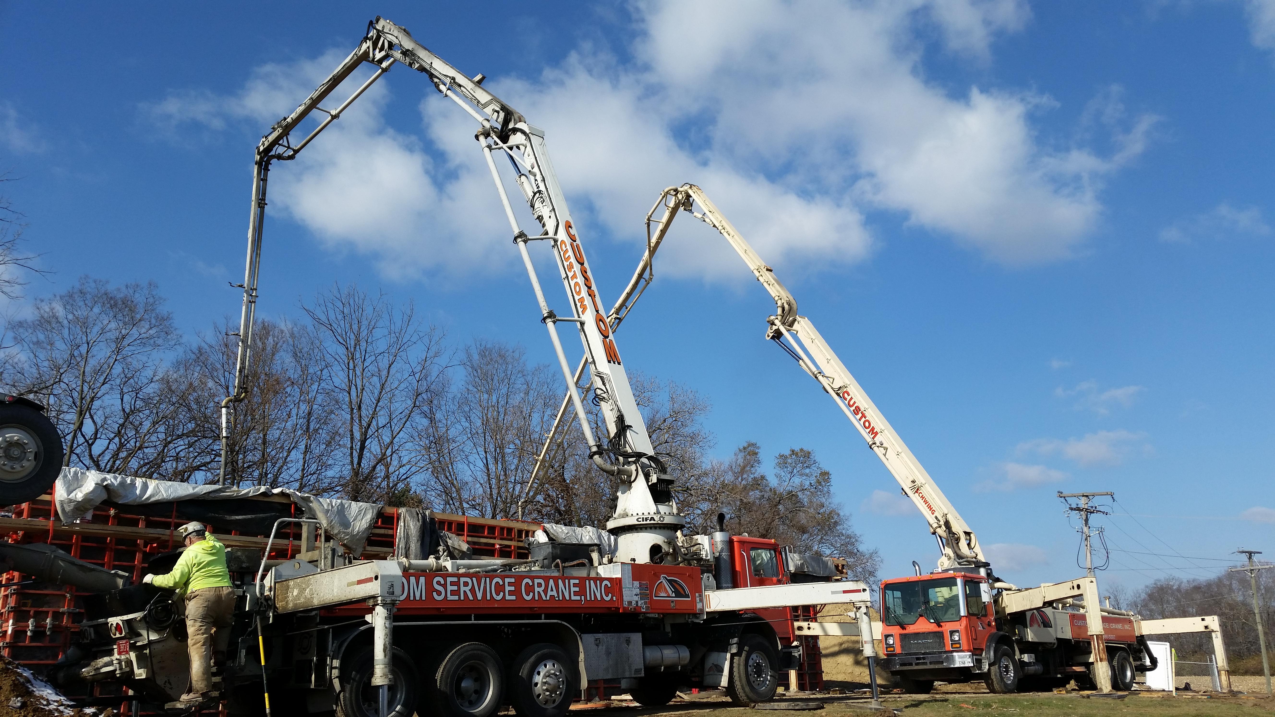 39 meter and 36 meter pump trucks.