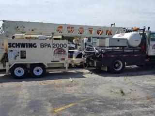 Our trailer pump is a convenient option for pumping concrete.